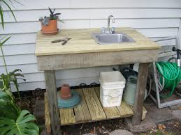 potting table with sink rustic potting table with sink that was found on side of road
