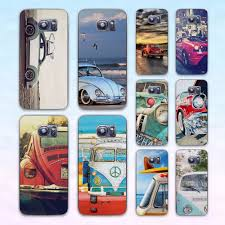 volkswagen van transparent retro summer volkswagen bus beach art transparent clear hard case