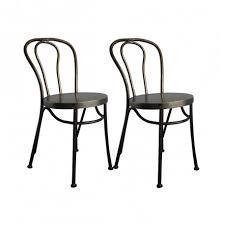 chaise bistrot lot de 2 chaises bistrot métal hanjel cerise sur la deco