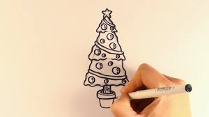 how to draw a christmas tree and decorations youtube