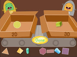 2d and 3d shapes factory game game education com
