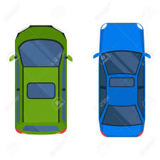 vehicle top view vector cars icon isolated from above car top view transportation