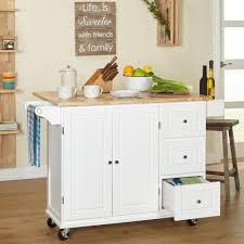 3 drawer spice rack drop leaf rolling kitchen island cart cabinet