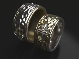 original wedding ring cross forged wedding ring original 3d printable model
