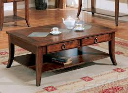 rustic storage coffee table style