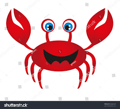 red crab cartoon isolated over white stock vector 85883524