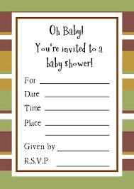 sample baby shower invitations badbrya com