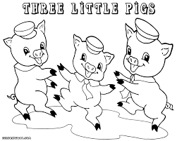 pigs coloring pages ideal 3 pigs coloring
