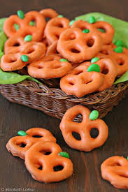 pretzel pumpkins recipe fall candy pretzels and third