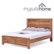 Wooden Platform Bed Frame Bed Frames Rustic Platform Beds Platform Bed With Headboard