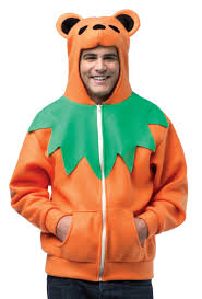 halloween hoodie hoodie grateful dead orange bear costume costume craze
