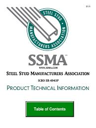 in the light gauge designation 250u050 54 steel stud catalog specification technical standard building