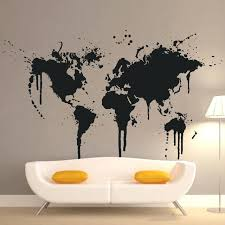 world map with country names contemporary wall decal sticker world map wall decal sticker goshu me