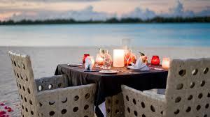 Candle Light Dinner Candlelight Dinner At St Regis Bora Bora