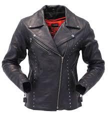 black motorcycle jacket milwaukee stud trim women u0027s premium motorcycle jacket w ccw