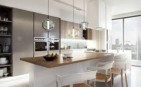 cuisine avec ilot central arrondi cuisine avec ilot central arrondi 8 luminaire suspendu de cuisine