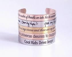 custom jewelry engraving engraved cuff etsy