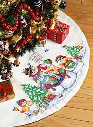 simple design tree skirt kits craftways penguin latch