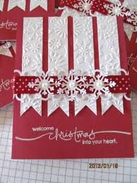 christmas card using the bigshot for embossing and lettering by