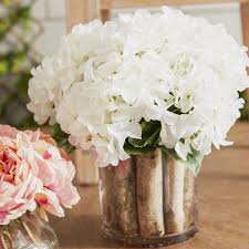 flower hydrangea laurel foundry modern farmhouse hydrangea birch in flower pot