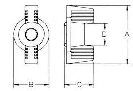 Decorative Wing Nuts Locking Decorative Wing Nut Micro Partes U2013 Sujetadores Plasticos