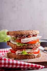 turkey blt club sandwich with jalapeno mayo simply delicious