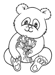 panda coloring pages the sun flower pages