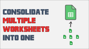 printables consolidate data from multiple worksheets in a single
