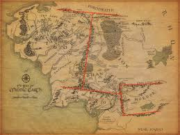 map of erth tolkien s map and the messed up mountains of middle earth tor