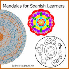 mandala coloring pages spanish learners spanish playground