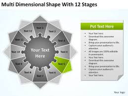 multi dimensional shape with 12 stages ppt business plan forms