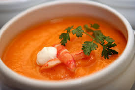 Lobster Bisque Recipe Lobster Bisque With Garlic Croutons Recipegreat Com