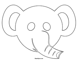 printable elephant mask
