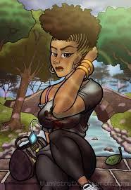 beautiful cartoon women art bad girl art pinterest natural hair art artsy and animation