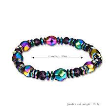 bracelet healthy images New rainbow magnetic hematite bracelet for men women power healthy jpg