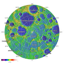 Radius Maps The Poles Of The Moon