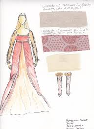 costume design sketches for romeo u0026 juliet on behance