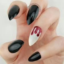 limited edition red glitter blood drips halloween accent nail