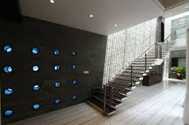 attractive modern staircase wall design the wall house dipen gada
