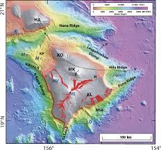 Map Of Hawaii Island Modeling Volcano Growth On The Island Of Hawaii Deep Water