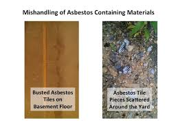 asbestos hazard improperly handled basement waterproofing
