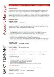 account manager resumes account manager sales resume and resume sles with free