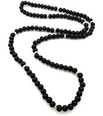 long bead chain necklace images Evbea long beaded necklace for men africa wood chain jpg