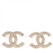 cc earrings chanel cc earrings gold 75799
