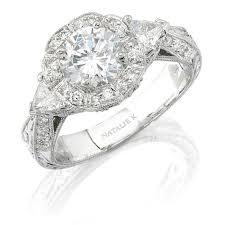 semi mount engagement rings natalie k 14k white gold vintage semi mo