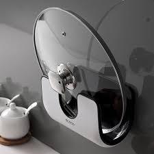 kitchen cabinet door pot and pan lid rack organizer pot cover pan lid storage rack holder wall mount organizer