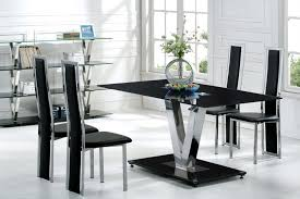 Modern Kitchen Table And Chairs Modern House Interior Exciting Chrome Black Dining Table Set
