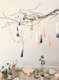 branch home decor cozy home decor diy dip dye tassel chandelier shop sweet things