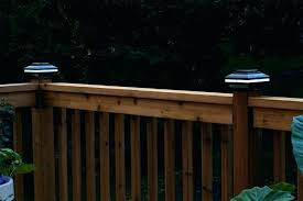 solar powered deck post lights solar lighting for deck post deck post cap lights post lights solar