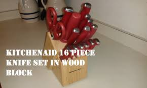 kitchen aid knives kitchenaid 16 knife set in wood block review